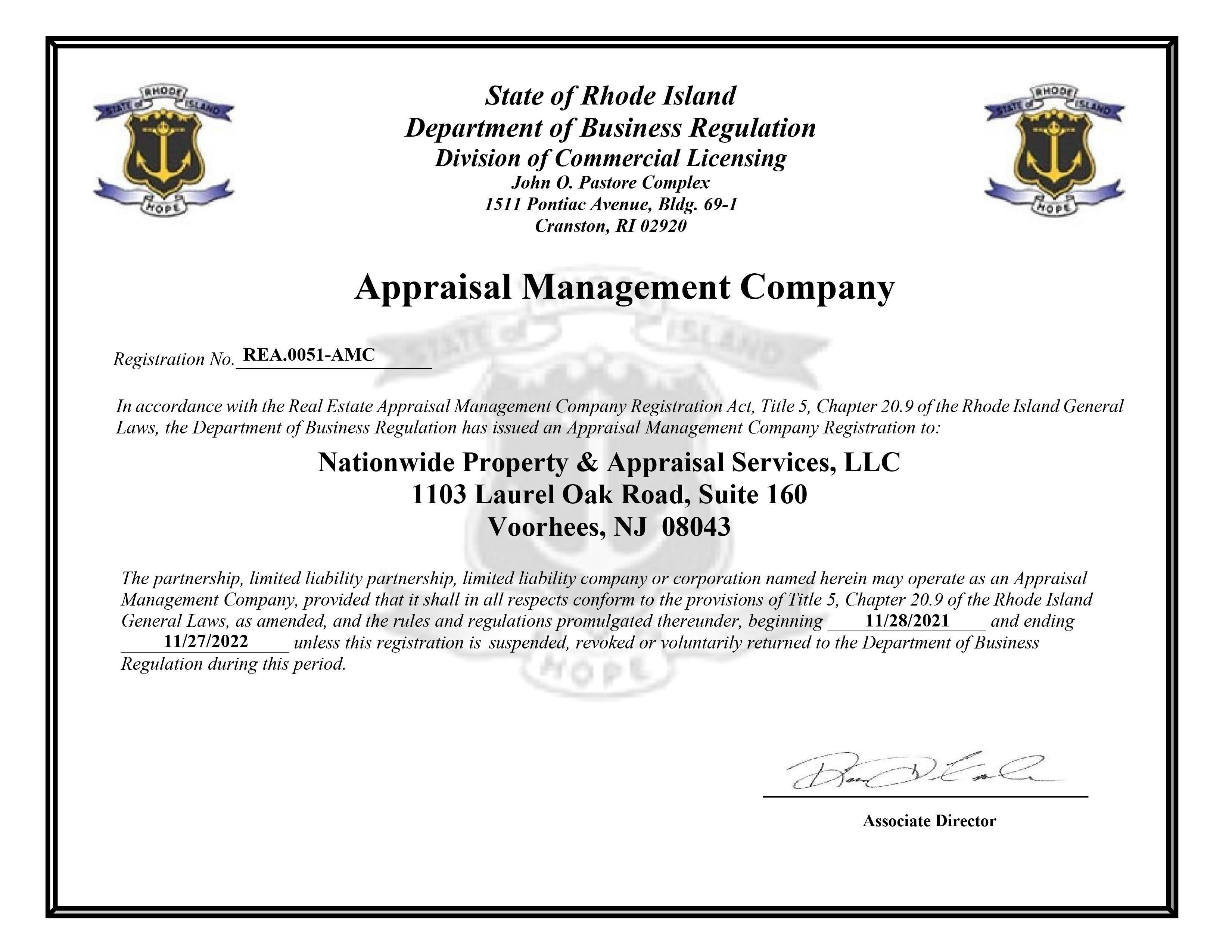 Licenses | Elliott & Company Appraisers